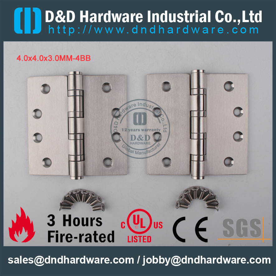 D&D Hardware-Architectural Hardware SS304 4x4x3-4BB Door Hinge DDSS002