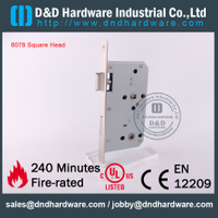 Stainless Steel 304 Fire Rated Bathroom Door Lock for Wooden Door with CE Certificate-DDML012