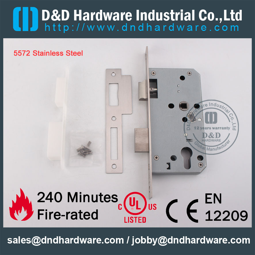 Fire Rated Sash Lock-D&D Hardware