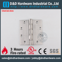 SS UL Classical Fire Rated 4BB Hinge-DDSS006-FR-5x4.5x3.4mm