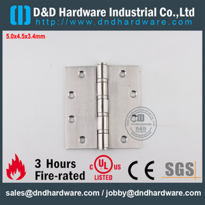 Stainless Steel Classical Fire Rated Ball Bearing Hinge with UL for Metal Door-DDSS006-FR-5x4.5x3.4mm
