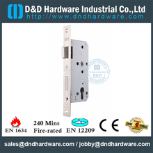 SUS304 Euro Mortise Fire Rated Door Lock for Metal Door with CE Certificate-DDML009