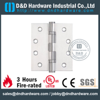 SSS304 Fire Rated 2 Ball Bearing Hinge with UL for Wooden Door-DDSS001-FR-4x3.5x3.0mm