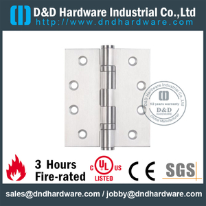 SS304 Fire Rated 2BB Hinge with UL-DDSS001-FR-4x3.5x3.0mm