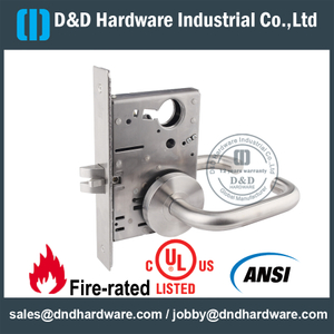 SS304 ANSI Mortise Passage Door Lock-DDAL01 F01