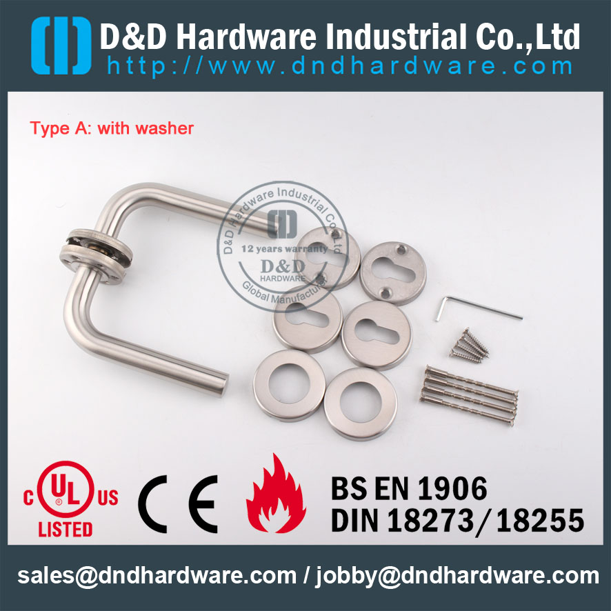 D&D Hardware-Fire Rated Tube lever handle DDTH002