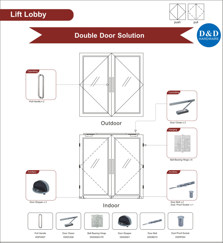 Lift Lobby Fire Rated Door Solution-D&D Hardware