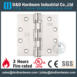 SS Grade 304 Four Ball Bearing Hinge with UL Certificate for Metal Door-DDSS004-FR-4.5x4x3.4mm