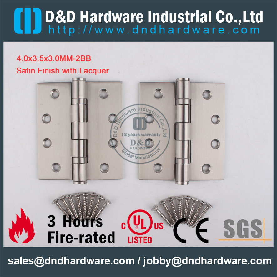 D&D Hardware-Wooden Door 4.0x3.5x3.0-2BB Stainless Steel hinge DDSS001