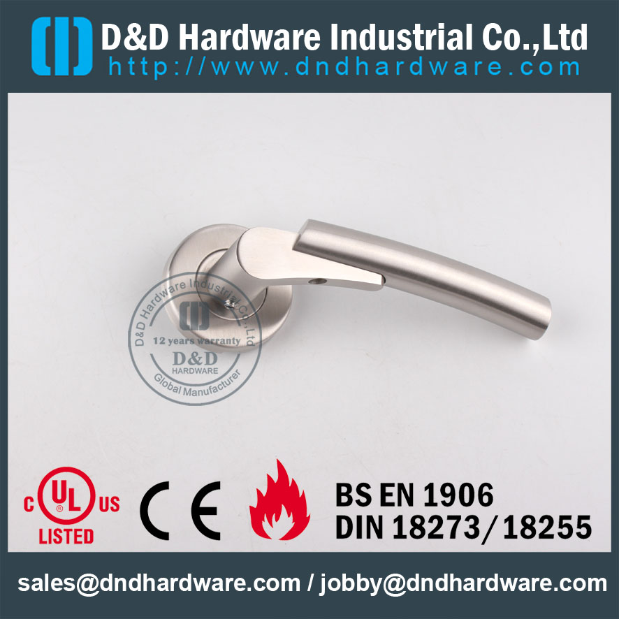D&D Hardware-Architectural Hardware solid Door handle DDSH017