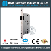 SUS304 Euro Round Corner Fire Rated Sash Lock for Metal Door-DDML009-R