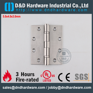 Grade316 Durable UL Fire Rated 2 Ball Bearing Hinge for Wood Door-DDSS005-FR-5x4x3.0mm