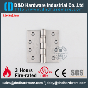 SUS304 Modern Fire Rated 2BB Hinge with UL Listed for Steel Door-DDSS001-FR-4x4x3.4mm