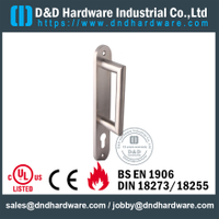 SSS304 New Design Euro Durable Commercial Door Handle with Plate for South America market