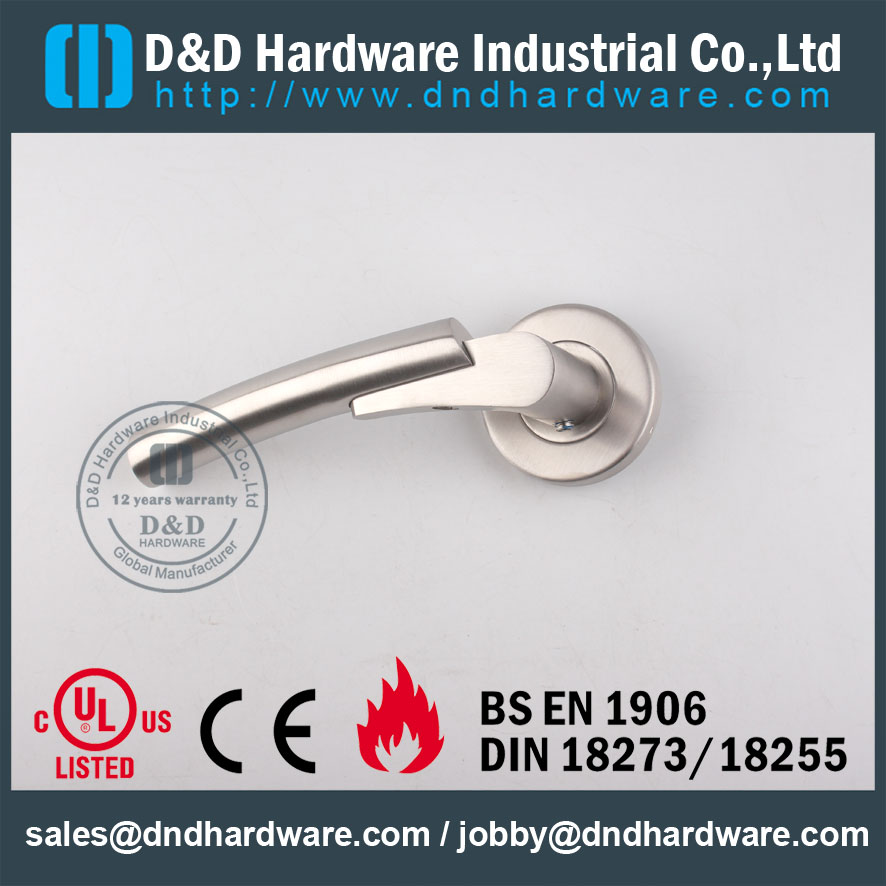 D&D Hardware-Stainless Steel Cast solid Door handle DDSH017