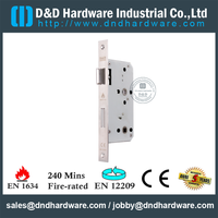 Stainless Steel Euro Mortise Fire Rated Bathroom Door Lock for Metal Door-DDML012