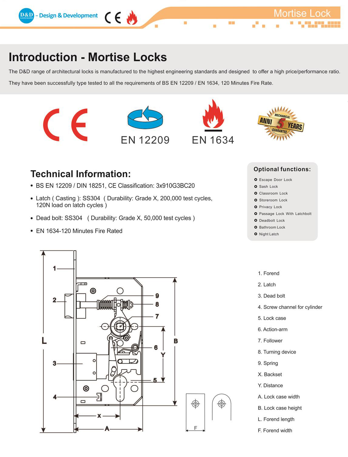 EURO Mortise Locks-D&D Hardware