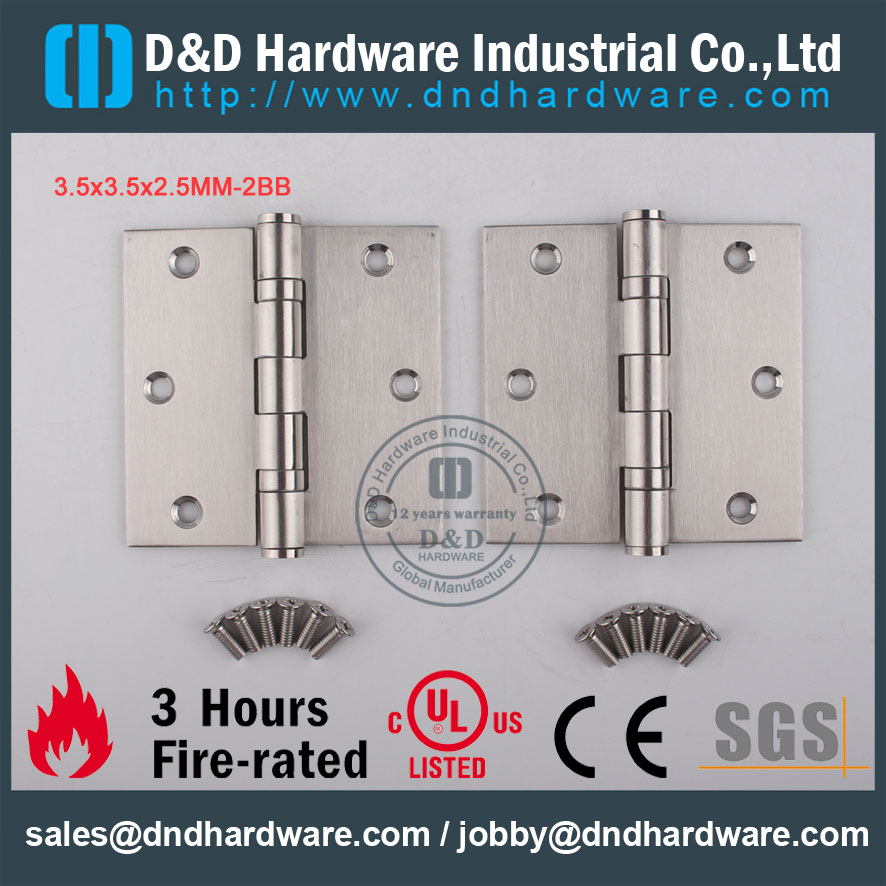 D&D Hardware-Stainless steel 304 3.5x3.5x2.5-2BB Door hinge DDSS001