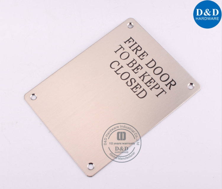 Square Fire Door Signature Plate-D&D Hardware