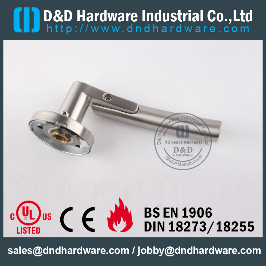 D&D Hardware-Door Hardware SS304 solid lever handle DDSH017