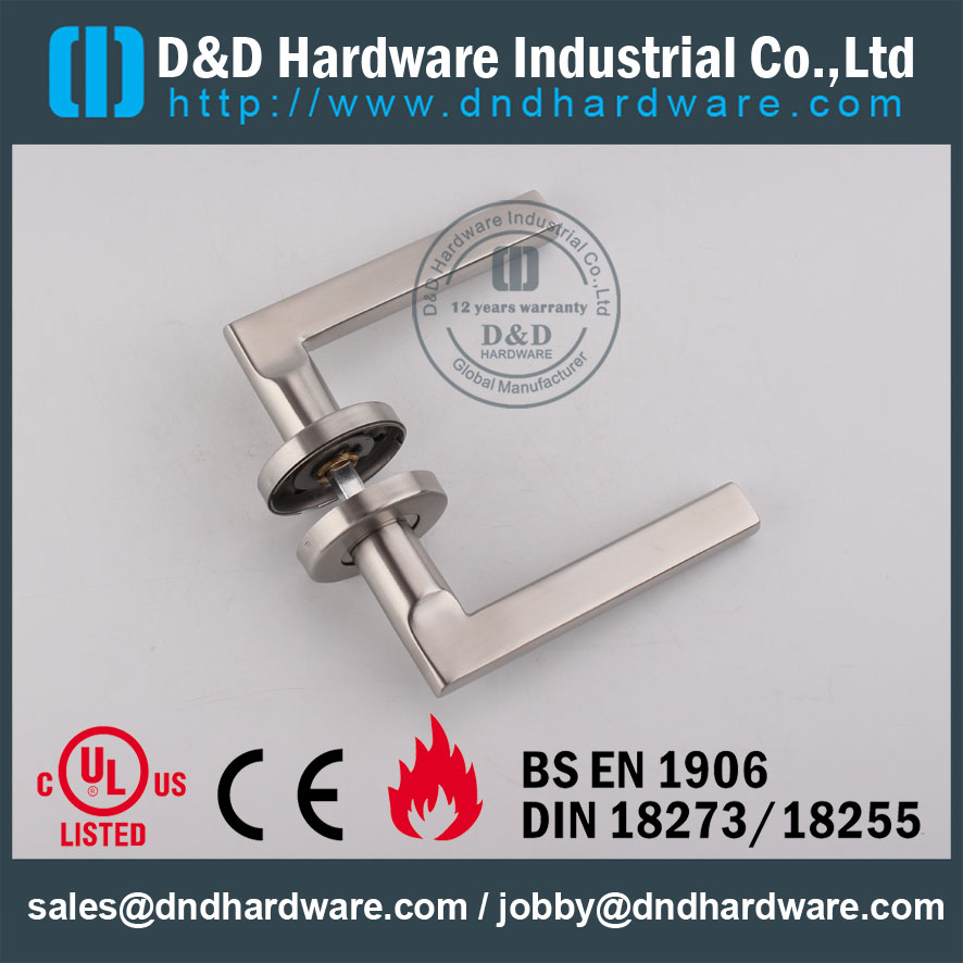 D&D Hardware- Fire Rated SS304 solid handle DDSH023