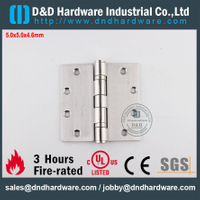 Stainless Steel 316 Modern Fire Rated 2 Ball Bearing Hinge with UL for Office Metal Door-DDSS006-FR-5x5x4.6mm