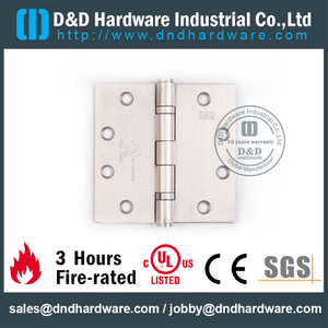 UL Fire-rated Full Mortise Door Hinge-DDSS002-FR-4.5x4.5x3.0mm