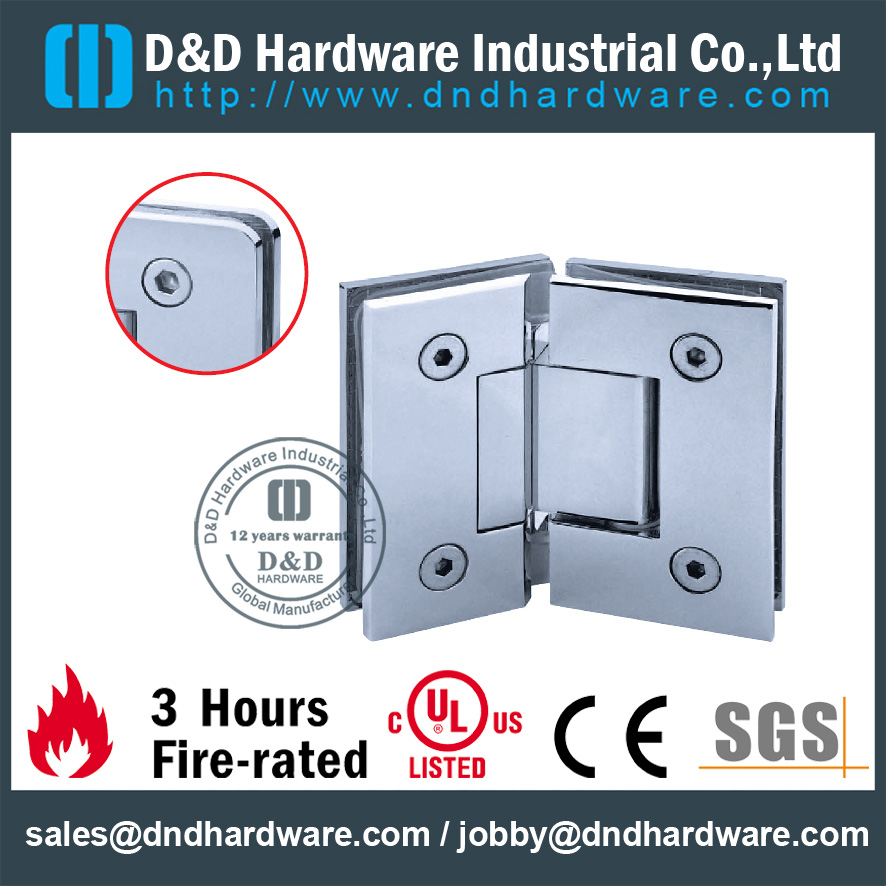 High Quality Brass Glass to Glass Hinges-D&D Hardware