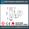 Euro SS304 Escutcheon Fire Rated Lever Trim for Emergency Exit Metal Door -DDPD014