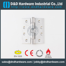SUS304-Stainless Steel BS EN 1935 Fire Rated Ball Bearing Door Hinge for Steel Door-DDSS001--CE-4x3.5x3.0mm