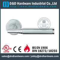 Stainless steel 304 round tubular custom solid lever handle for Wood Door- DDSH200