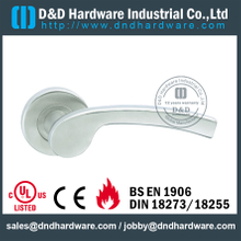 Stainless Steel Cast Solid Lever Handle on Rose for Office Doors-DDSH074
