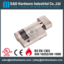 Brass Euro Single Thumbturn Cylinder for Restroom Door Lock-DDLC009