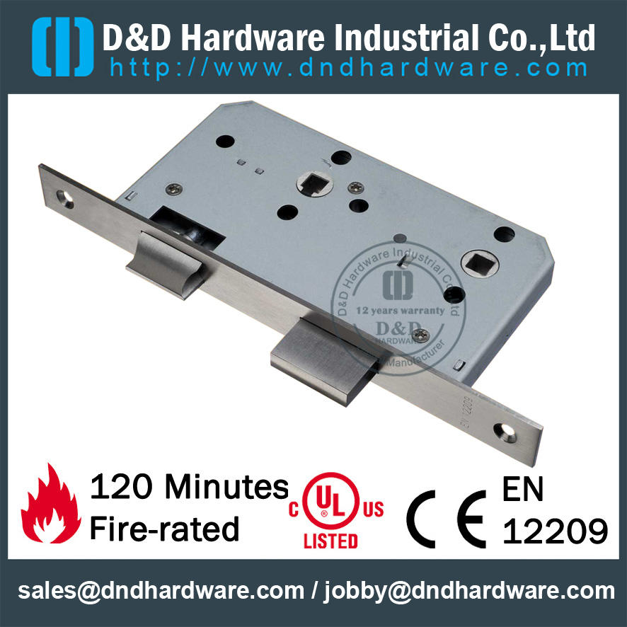 Stainless steel round head type latch mortise lock for Bathroom Door - DDML5578WC
