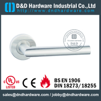 Antirust fire-rated classic door handle for Metal Door- DDSH211