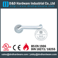 Stainless Steel 201 Internal Door Handles on Rose for Fire-rated Door-DDTH016