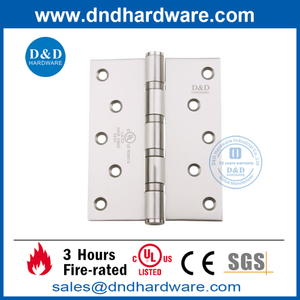 UL SUS304 Ball Bearing Fire Wooden Door Hinge-DDSS007-FR