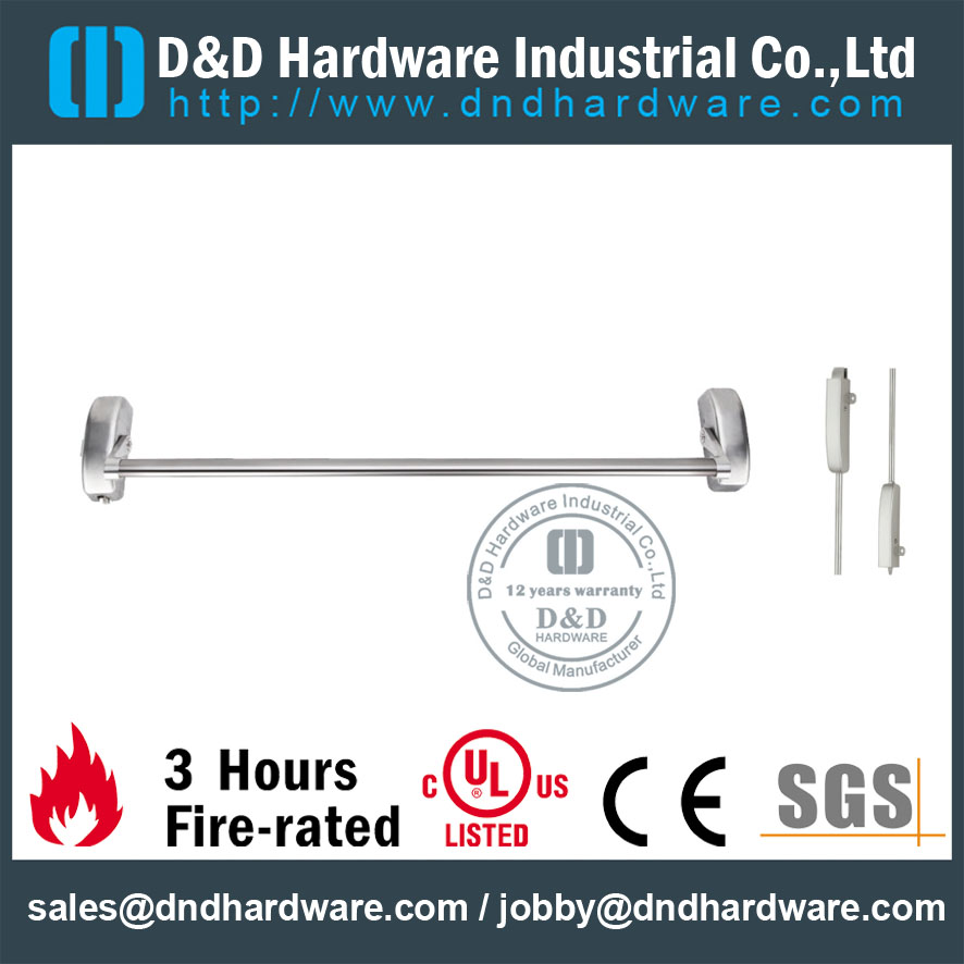 Stainless Steel Fire Rated Panic Exit Device Cross Bar for Double Wooden Door -DDPD022
