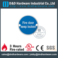 SUS304 Fire Door Indication Circular Sign Plate for Wooden Doors -DDSP007