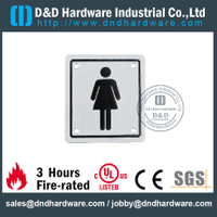 Stainless Steel Women's Bathroom Square Sign Plate 100x100mm for Restroom Doors –DDSP002