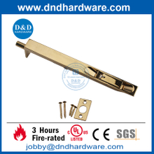 Stainless Steel Heavy Duty Polished Brass Polished finish Flush Door Bolt for Metal Door -DDDB001