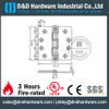 Stainless steel durable four ball bearing Fire Rated Door Hinge for Wooden Door-DDSS002
