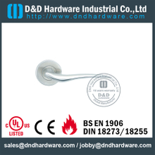 Antirust Casting Stainless Steel Lever Handle for Wooden Doors -DDSH003