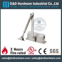Automatic Hydraulic Fire Rated Door Closer 45Kg in Aluminum Alloy for Exterior Wooden Door -DDDC002