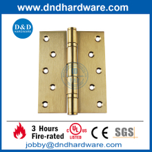 UL SS304 Fire Rated 2BB Polished Brass Stain hinge Door Hinge-DDSS007-FR-5x4x3mm