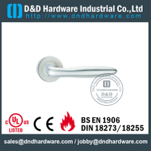 SS316 Internal Chrome Lever Door Handle Hollow Welding for Hotel Single Door-DDTH036