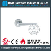Stainless Steel 304 Interior Designer Solid Lever Handle for Hollow Metal Doors -DDSH022