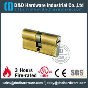 Solid Brass Double Lock Cylinder for Commercial Door with 5 Keys-DDLC003