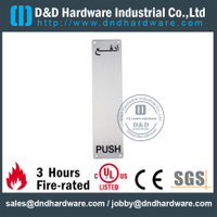 Stainless Steel 316 Antirust Push Plate 100x400mm for Outer Metal Doors -DDSP012