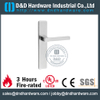 Stainless Steel 316 Solid Square Shape Lever Handle with Rectangular Plate for Fire-rated Door-DDTP005